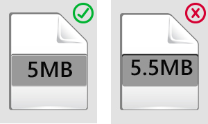 File size reference image